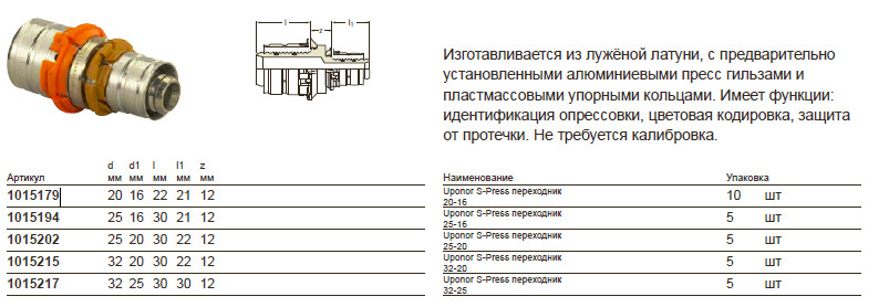 Размер на Uponor 1015202