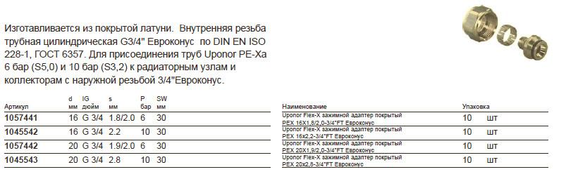 Размер на Uponor 1045543