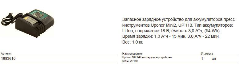 Размер на Uponor 1086610