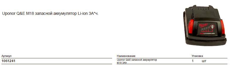 Размеры на uponor 1061241
