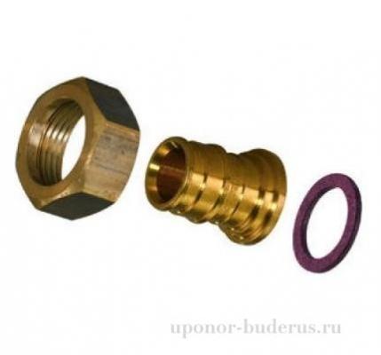 Uponor Q&E штуцер с накидной гайкой латунь 20x1/2НГ Артикул 1023015