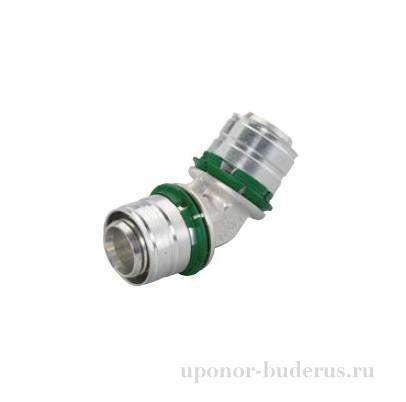 Uponor S-Press угольник 45° латунный 32-32 Артикул 1014825