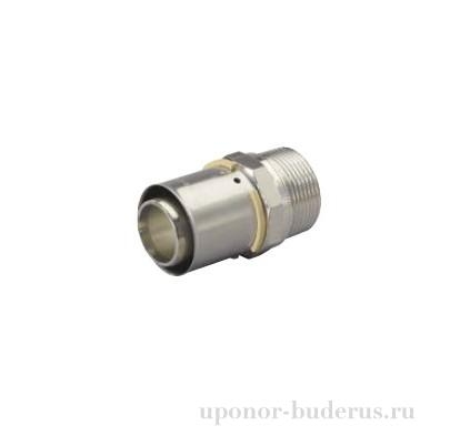 "Uponor S-Press штуцер с наружной резьбой 40-R1 1/2""НР  Артикул 1046902"