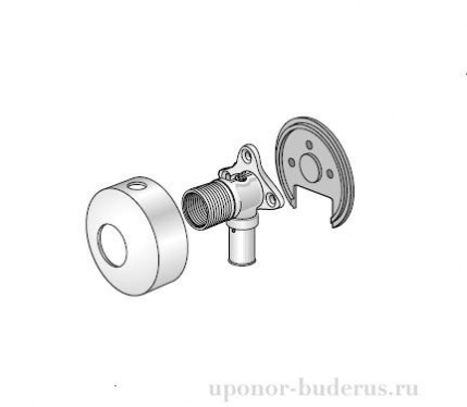 "Uponor Smart Aqua S-Press водорозетка под гипсокартон 16-G1/2""BP  Артикул 1044211"