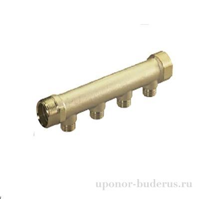 """Uponor Uni-C коллектор S 1""""MT/FT 4x1/2""""MT Артикул 1014109"""