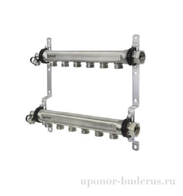 """Uponor Uni-X коллектор латунный H 1""""НГ 4XG3/4""""НР ц/ц 50мм Артикул 1088875"""