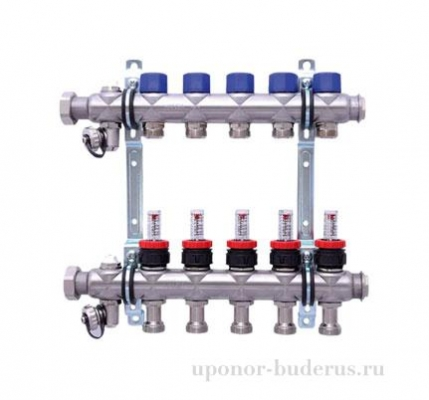 HANSA коллектор с расходомерами выходы 5х3/4 Евроконус Артикул 256305
