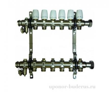"Millennium 1"" коллектор c клапанами выходы 5х3/4 Евроконус Артикул KGR1006"