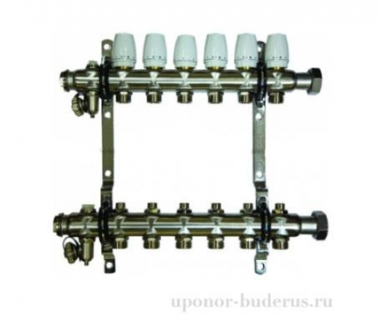 "Millennium 1"" коллектор c клапанами выходы 7х3/4 Евроконус Артикул KGR1007"