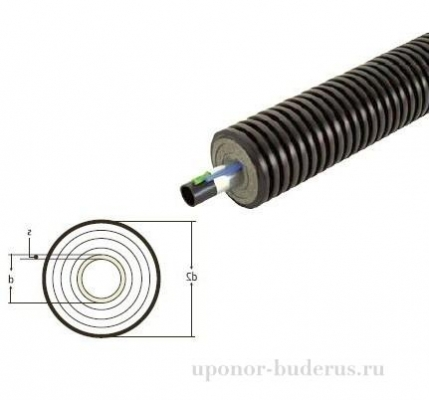 Uponor Ecoflex Supra Plus труба 110x10,0 /200  Артикул 1048696
