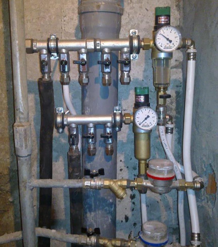 Распределительный коллектор для водоснабжения