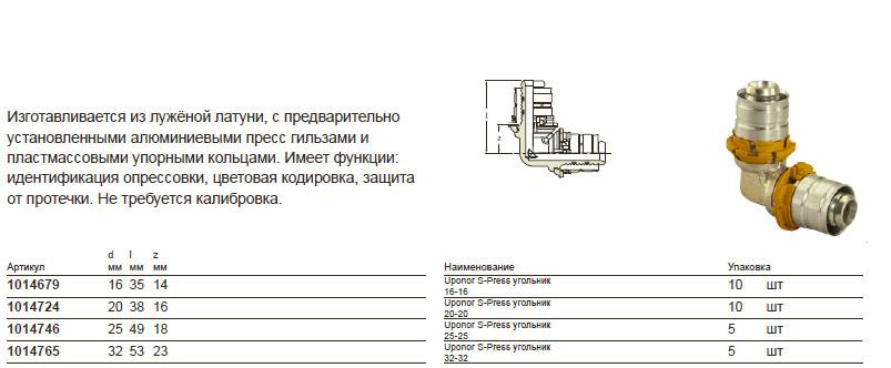 Размер на Uponor 1014724