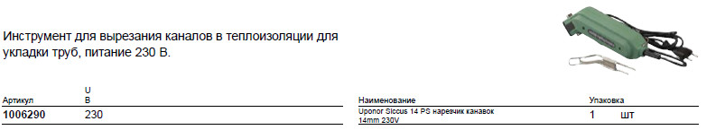 Размер на Uponor 1006290