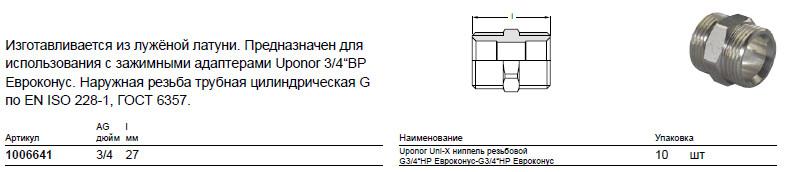 Размер на Uponor 1006641