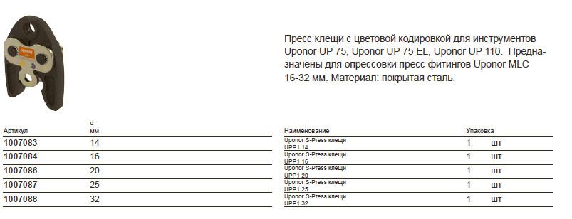 Размер на Uponor 1007088