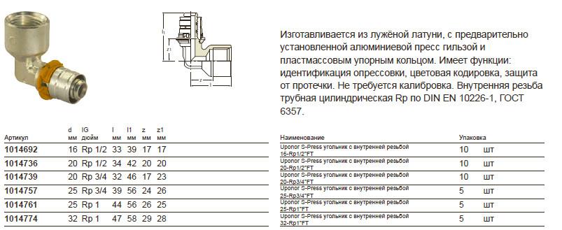 Размер на Uponor 1014736