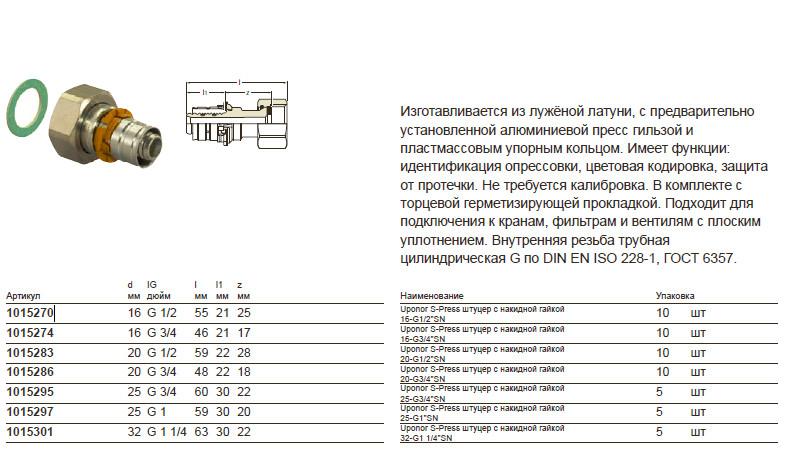 Размер на Uponor 1015286