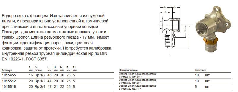 Размер на Uponor 1015512