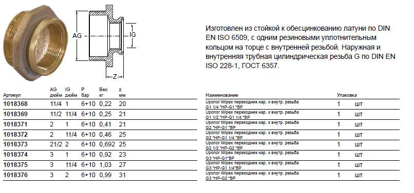 Размер на Uponor 1018371