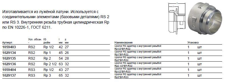 Размер на Uponor 1029134