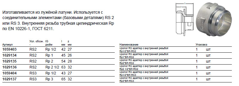 Размер на Uponor 1029137