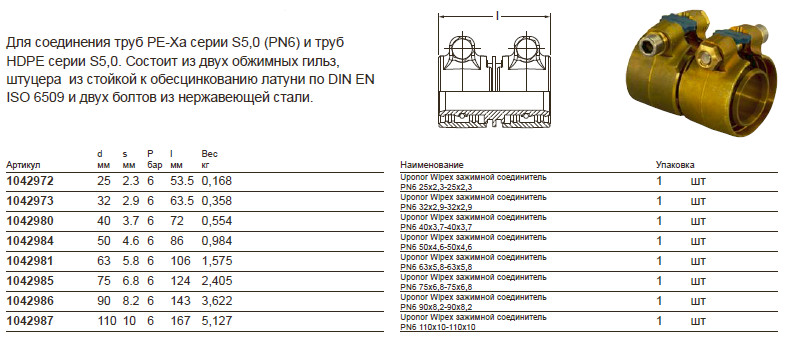 Размер на Uponor 1042972