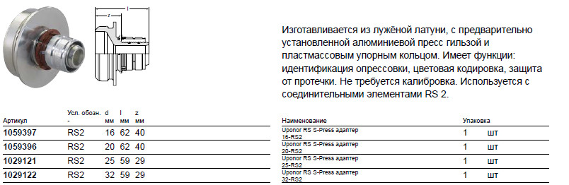Размер на Uponor 1059396