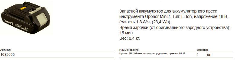 Размер на Uponor 1083605