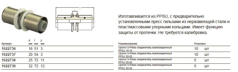 Размеры на uponor 1022737