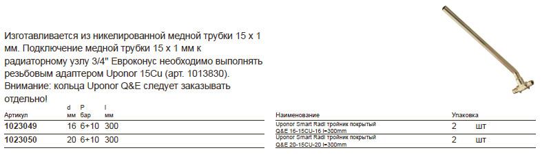 Размеры на uponor 1023049