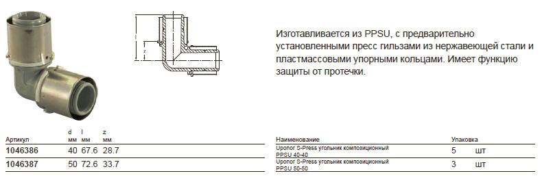 Размеры на uponor 1046386