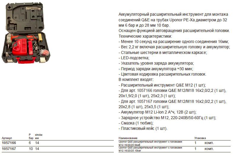 Размеры на uponor 1057167