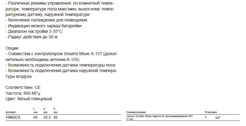 Размеры наUponor Smatrix-10862723